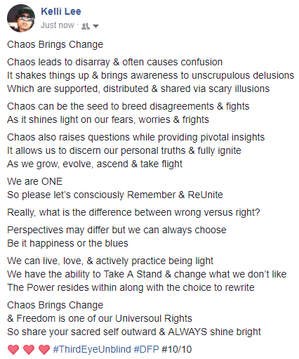 Chaos Brings Change