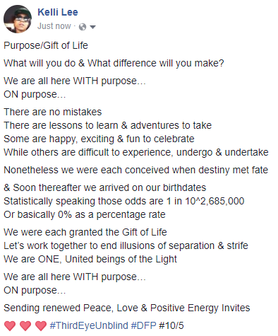 Purpose Gift of Life