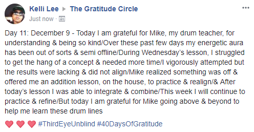 Gratitude 2 Day 11 2017-12-8