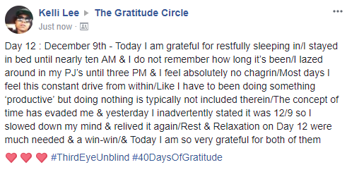 Gratitude 2 Day 12 2017-12-9