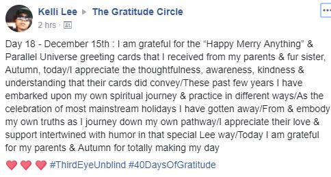 Gratitude 2 Day 18 2017-12-15