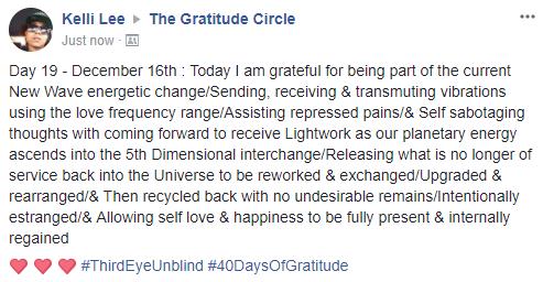 Gratitude 2 Day 19 2017-12-16