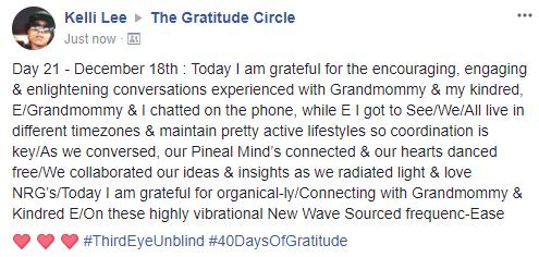 Gratitude 2 Day 21 2017-12-18
